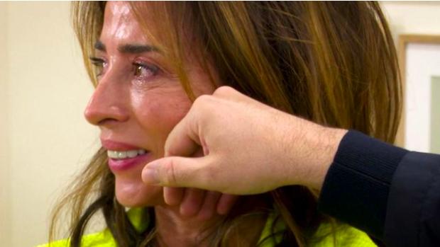 María Patiño reompió a llorar ante Màxim Huerta.