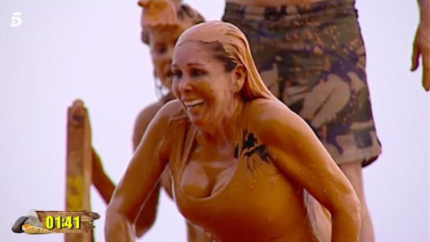 Isabel Pantoja, en una prueba de 'Supervivientes'.