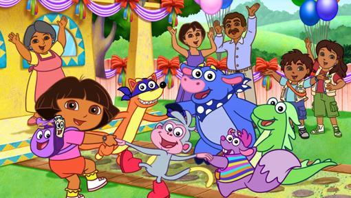 Dora, su familia y sus amigos