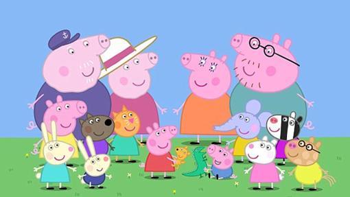 Peppa Pig con sus amigos del cole y su familia