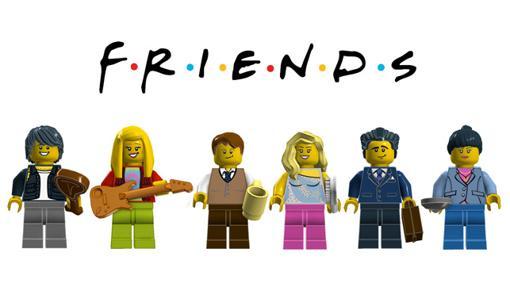 Los chicos de Friends en versión LEGO