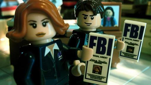 Mulder y Scully LEGO agentes del FBI