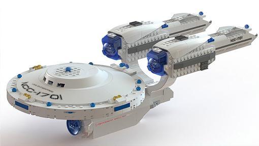 Una genial Enterprise hecha con fichas de LEGO