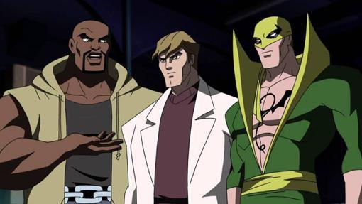 La versión animada de Luke Cage en la serie de Los Vengadores