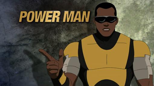 Luke Cage usa el apodo de Power Man en la serie animada de Ultimate Spider-Man