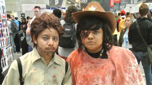 Versiones mexicanas de Rick y Carl Grimes