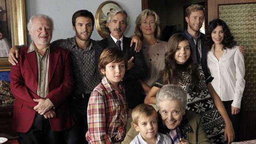La familia Alcántara al completo