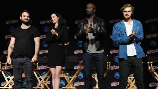 Los actores que dan vida a los cuatro héroes de Los Defensores