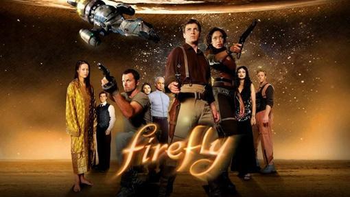 Los miembros de la Serenity, la nave de Firefly
