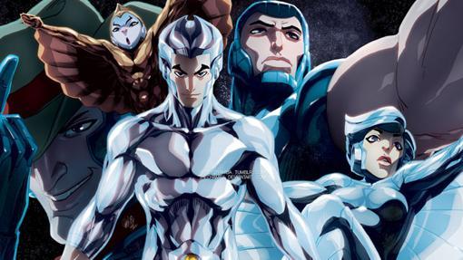 Una ilustración de los Silver Hawks hecha por un fan