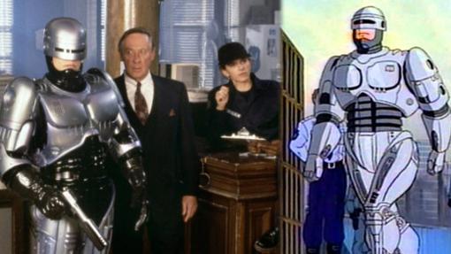 Dos de los tres Robocops que vimos en televisión