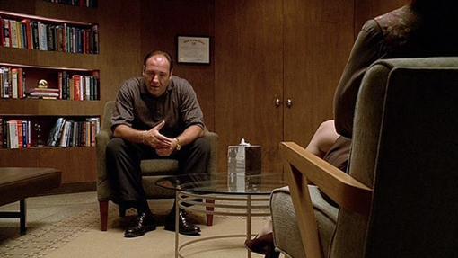 Tony Soprano en su consulta semanal