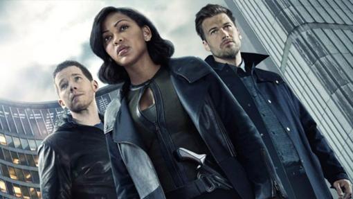 Los agentes de la unidad Pre-crimen