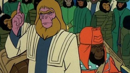 EL Dr. Zaius de la serie animada de «El Planeta de los Simios»
