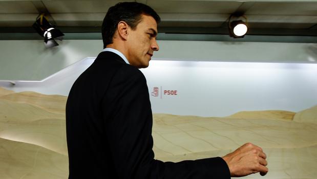 Pedro Sánchez tras la reunión de la Comisión Permanente de la Ejecutiva Federal del PSOE