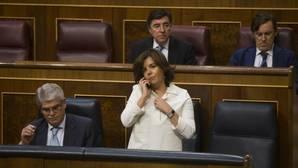 La vicepresidenta del gobierno, Soraya Sáez de Santamaría, en el Congreso de los Diputados