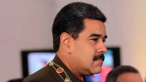 Nicolás Maduro durante una ceremonia oficial en el Panteón Nacional de Caracas