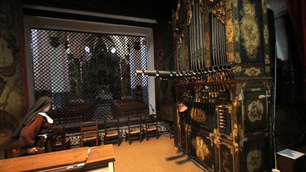 Órgano del Convento de Santa Inés que inspiró a Gustavo Adolfo Bécquer y que las monjas han mandado a restaurar