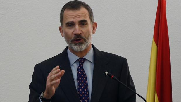 Don Felipe, durante su discurso en el acto de entrega de sus despachos como nuevos secretarios de embajada