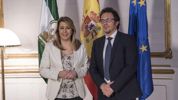 La presidenta de la Junta de Andalucía y el alcalde de Cádiz, el pasado miércoles en Sevilla