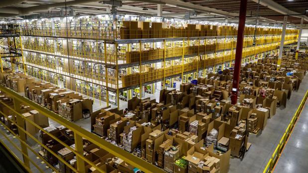 La nave de distribución de Amazon en Torrejón de Ardoz