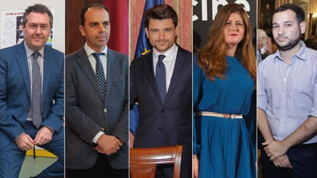 Juan Espadas, Javier Millán, Beltrán Pérez, Susana Serrano y Daniel González Rojas