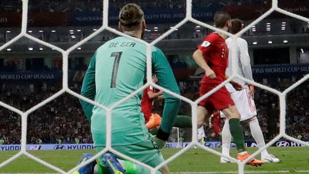 El guardameta de la selección española, en el partido ante Portugal