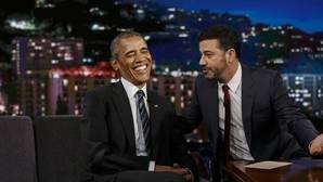 Obama se ríe de Trump desde el plató de Jimmy Kimmel