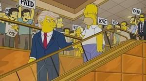 «Los Simpsons» hicieron presidente a Trump en un capítulo de hace 16 años