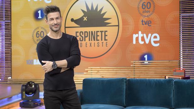 Eduardo Aldán, en el plató de «Espinete no existe»