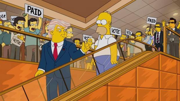 Así han reaccionado «Los Simpson» a su predicción de la victoria de Trump