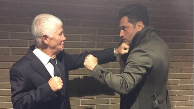 Twitter:  La «pelea» entre Bustamante y el padre de David Bisbal
