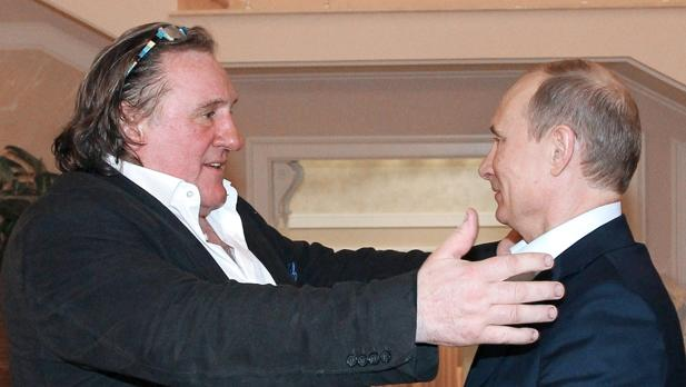 Gérard Depardieu y Vladimir Putin, en enero de 2013