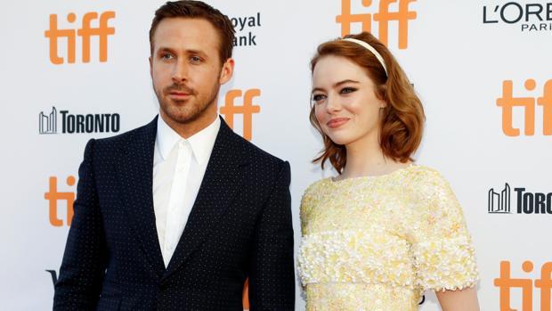 Ryan Gosling y Emma Stone el pasado mes de septiembre en el Festival de Toronto durante la presentación de «La La Land»