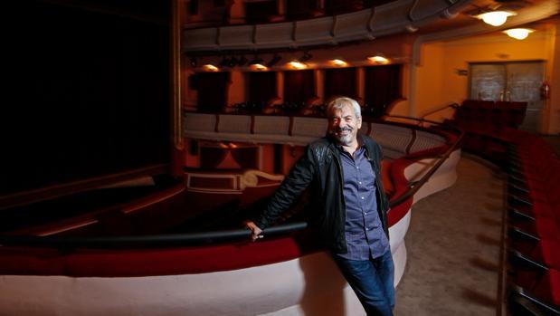 Carlos Sobera, durante su entrevista con ABC en el Teatro Reina Victoria