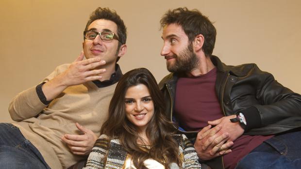 Dani Rovira, Clara Lago y Berto Romero, protagonistas de «Ocho apellidos catalanes», la película con más espectadores del Cine Iberoamericano en 2015.