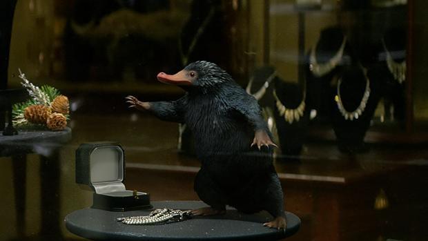 Niffler (Escarbato en español), uno de los «animales» más carismáticos de la película
