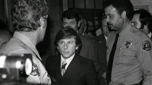 Polanski a la salida del juicio por «violación»