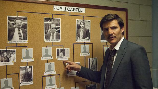 Fotograma de la tercera temporada de «Narcos»