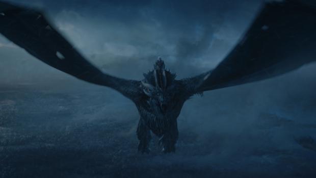 El Rey de la Noche a lomos del Viserion espectro en «Juego de tronos»