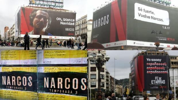 Los anuncios publicitarios de Netflix en Madrid y San Sebastián en los últimos meses