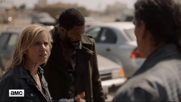 Kim Dickens en el décimo episodio de la tercera temporada de «Fear TWD»