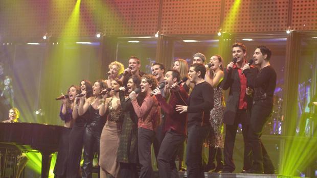 Los concursantes de la primera edición de «Operación Triunfo»