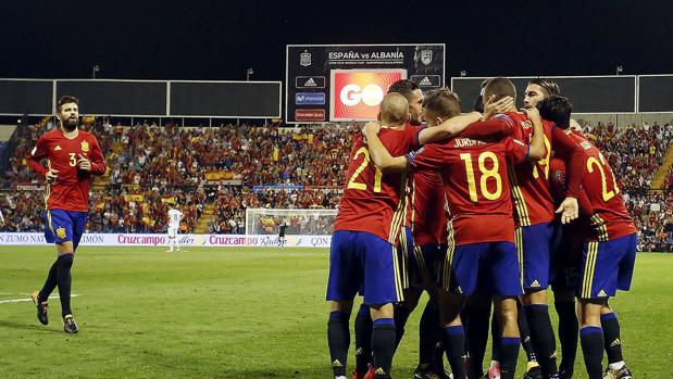 La selección españoala de fútbol