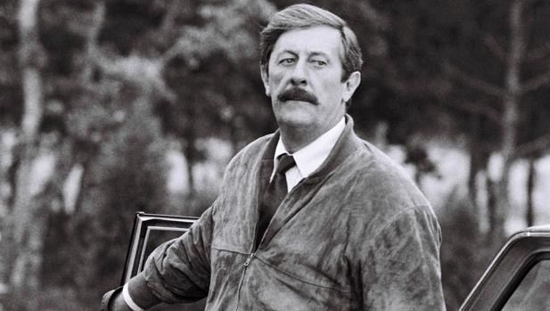 Jean Rochefort, en 1986, durante el rodaje de «Le Moustachu», de Dominique Chaussois