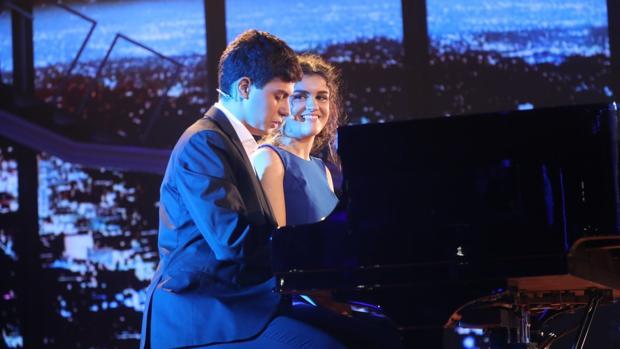 Alfred y Amaia, durante la tercera gala de «Operación Triunfo»