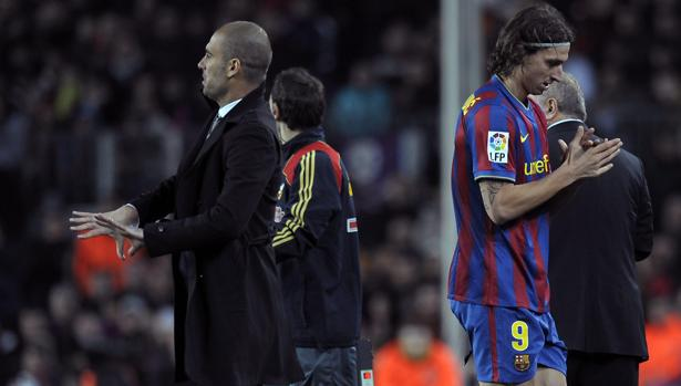 Guardiola y Zlatan Ibrahimovic