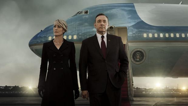 Robin Wright y Kevin Spacey, en «House of Cards»