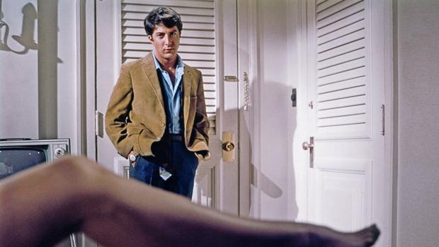 Dustin Hoffman en la escena más recordada de El graduado