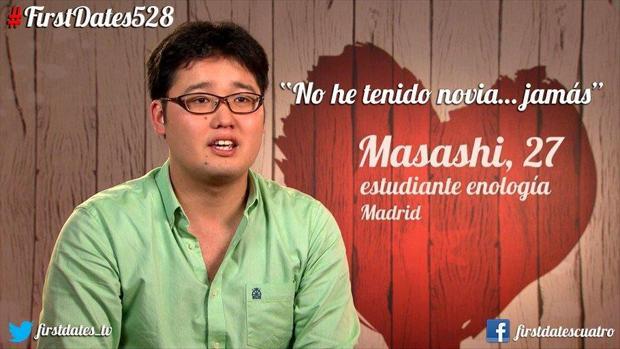 Masashi tampoco encontró novia en «First Dates»